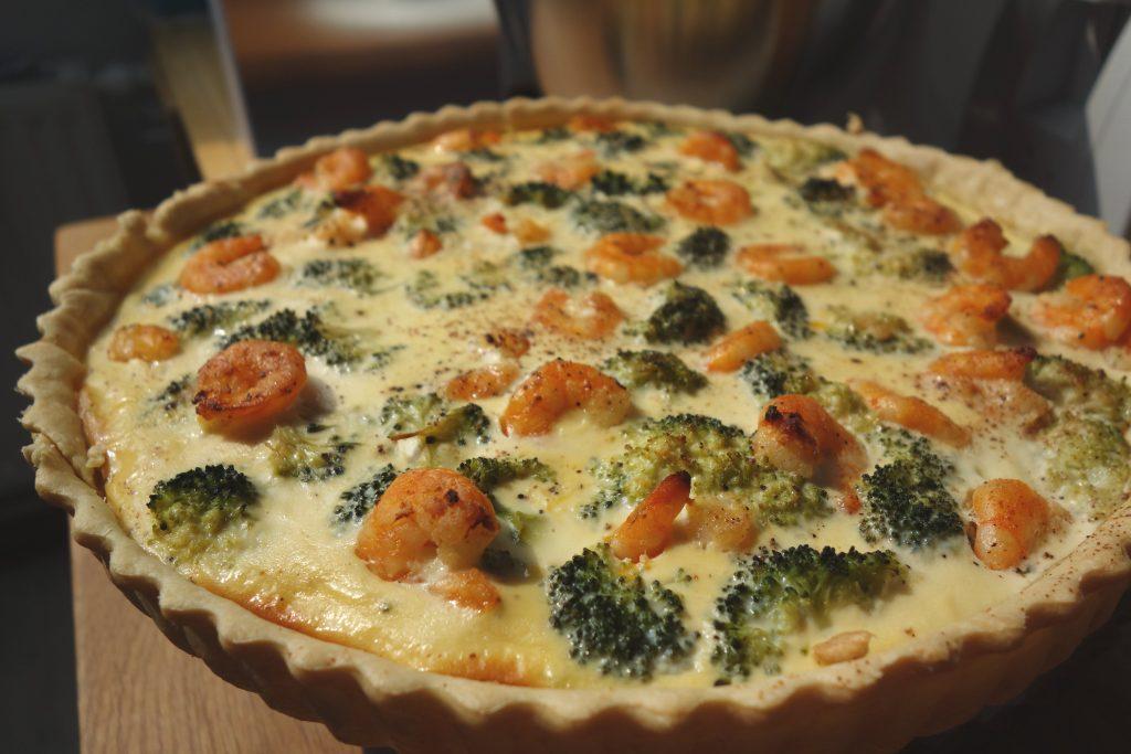 Brokkoli-Garnelen-Quiche
